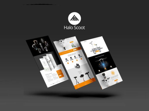 Halo City – Landing Page Design Flyer