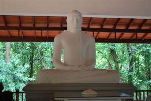 Buddha Statue at the Upper Meditation Hall of Mitirigala Nissaranavanaya Monastery.