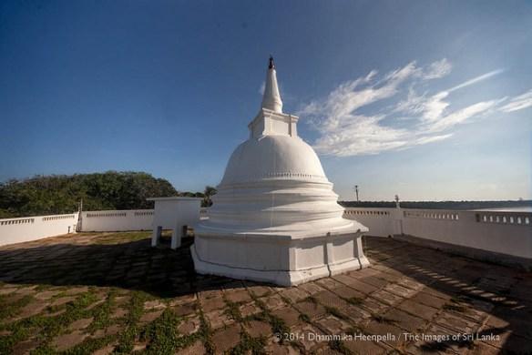 Stupa of Godawaya Buddhist Temple, Hambantota, Sri-Lanka