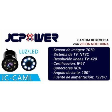 CÁMARA DE REVERSA JCPOWER JCCAML