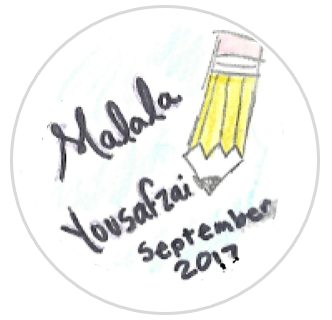 August 2017 Button single - Malala Yousafzai