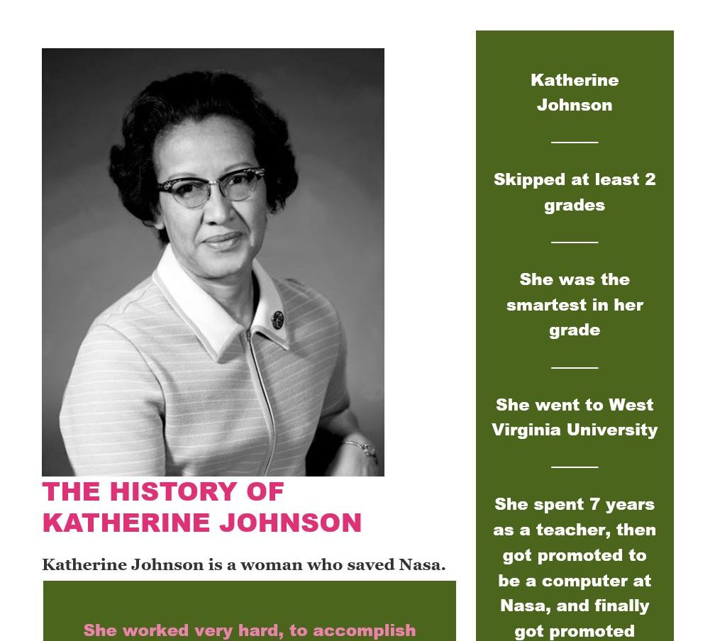 Katherine Johnson – action through awareness