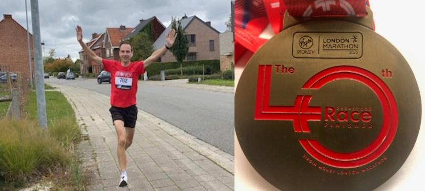 Virtuele London marathon | 04 Okt 2020 | 02:57:52