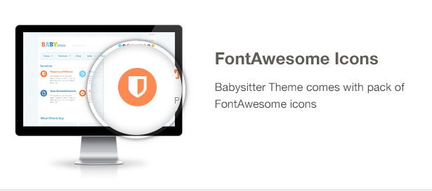 Babysitter Feature: FontAwesome Icons