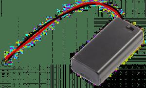 2xAA battery case