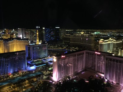 View of the strip from the High Roller