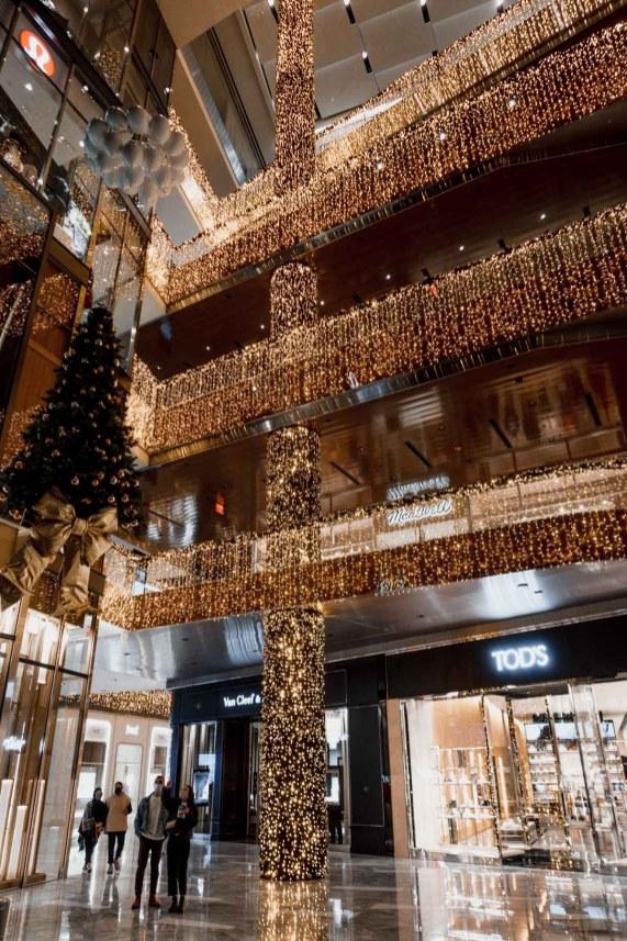 Hudson Yards christmas lights