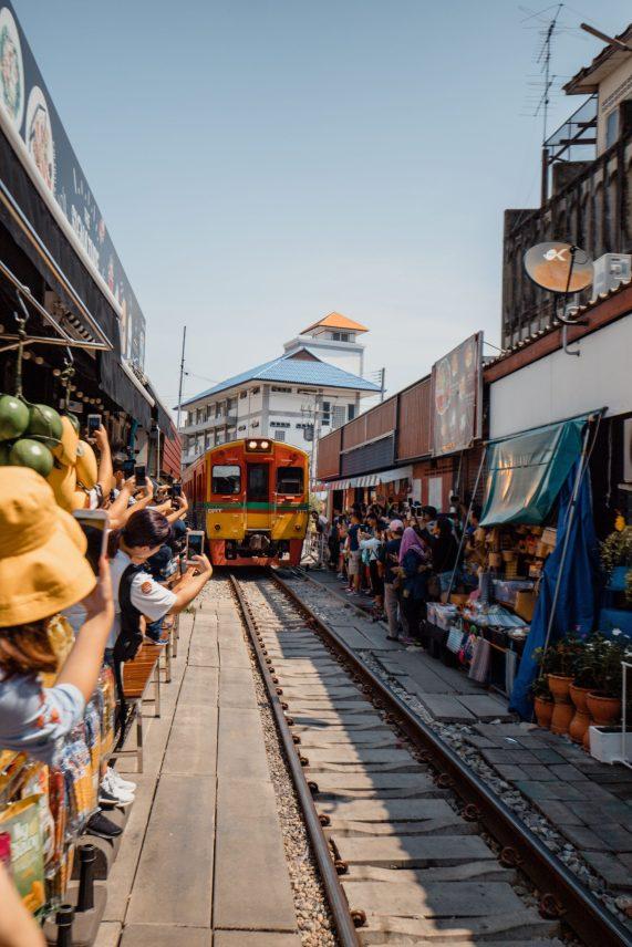 Maeklong Train Market