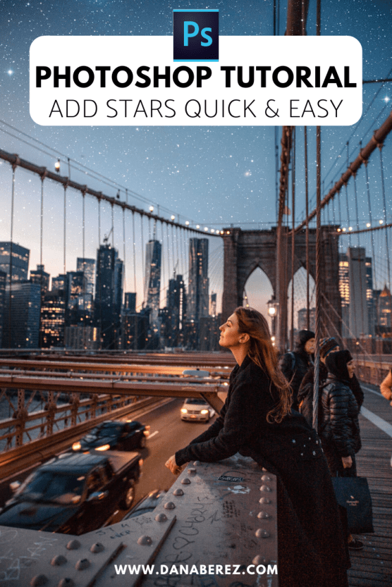 Easy photoshop tutorial. I will show you how to add Stars fast under 5 simple steps! Perfect for adding stars to your Instagram photos quick and easy. Photoshop tutorial for beginners. New York City night photography