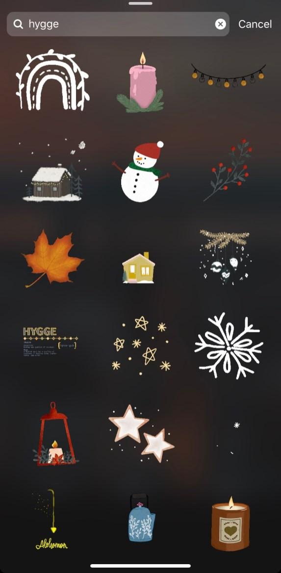 cute instagram stickers