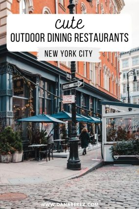 cute outdoor dining in nyc