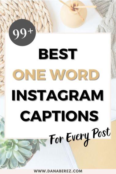 one word instagram captions