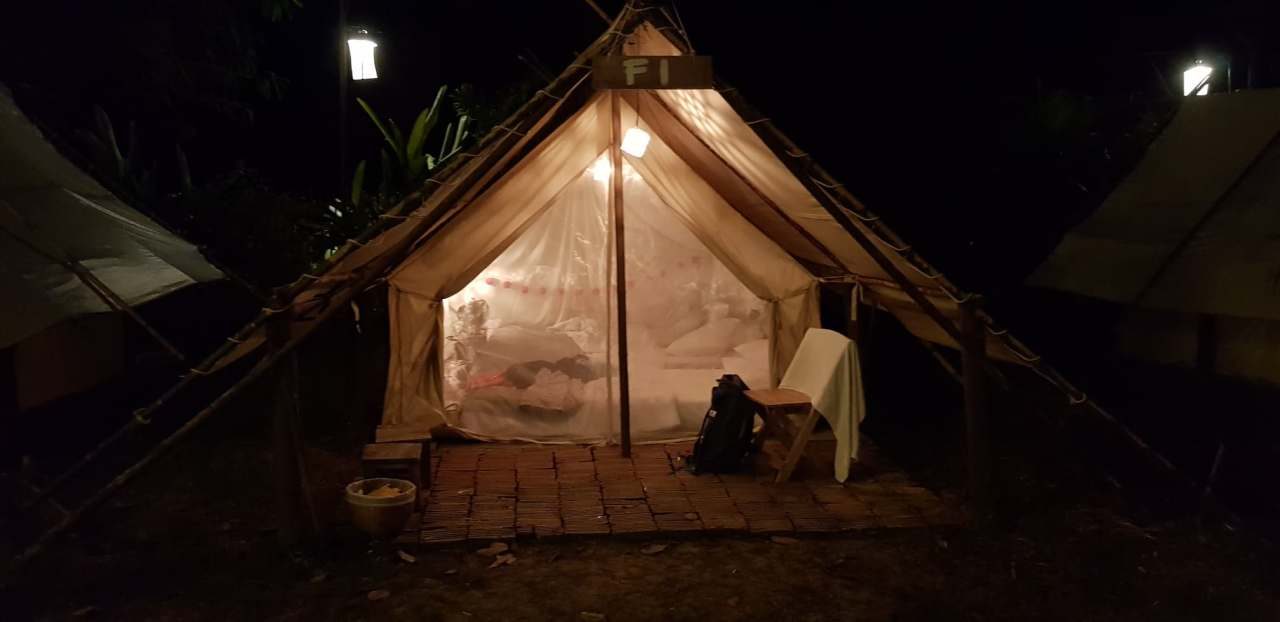 Camping in Chiang Mai - complete with electricity!
