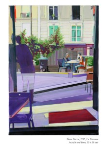 La Terrasse, 2017, Acrylic on linen, 55 x 38 cm