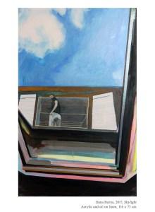 Skylight, 2017, Acrylic and oil on linen, 116 x 73 cm