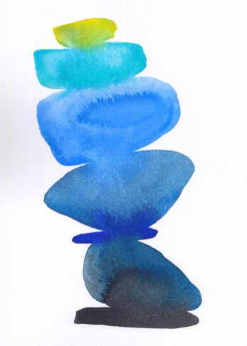 Untitled Cairn Blue, 2016,