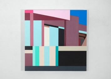 Facade 9, 2017, acrylic on panel, 24″x 24″x 2″