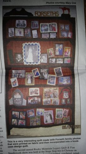 50th Wedding Anniversary Quilt - Orville & Caroline Forseth, July 2015