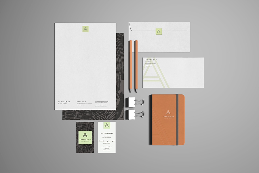 Anthology business cards and stationery