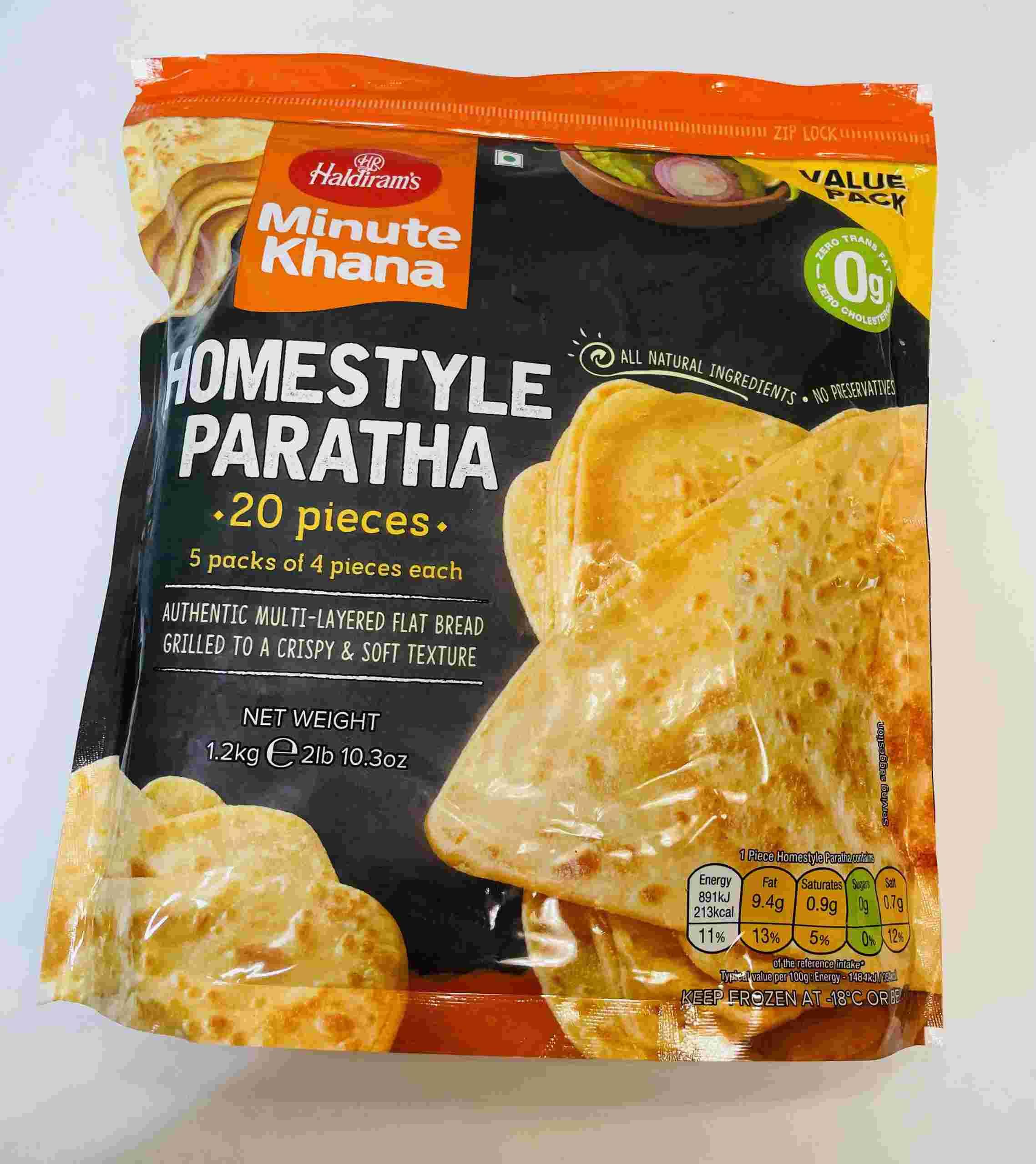 Haldiram's Homestyle Paratha 20 Pieces