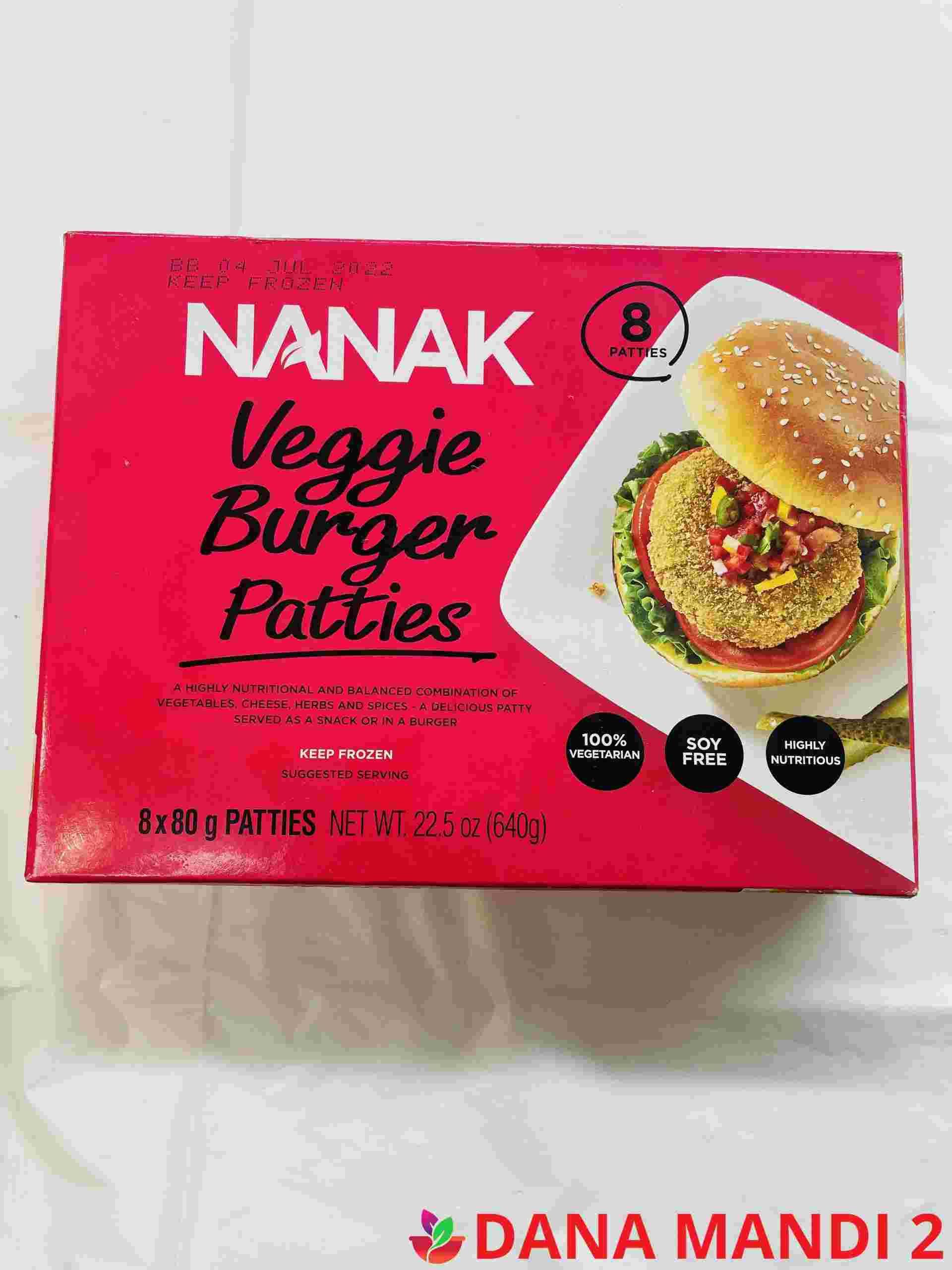 Nanak Veggie Burger Patties 8 Pieces
