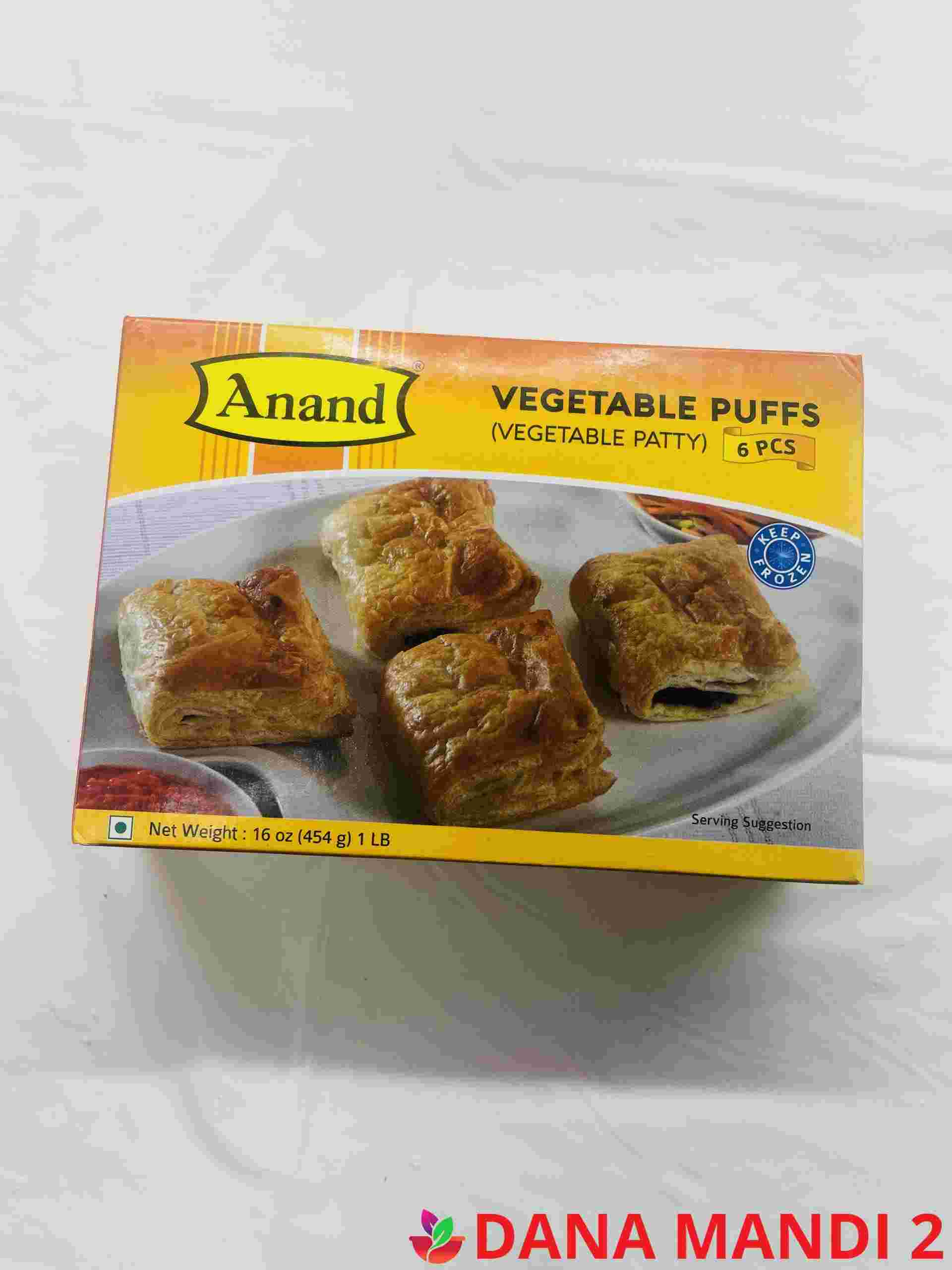 Anand Vegetable Puffs 6 Pieces