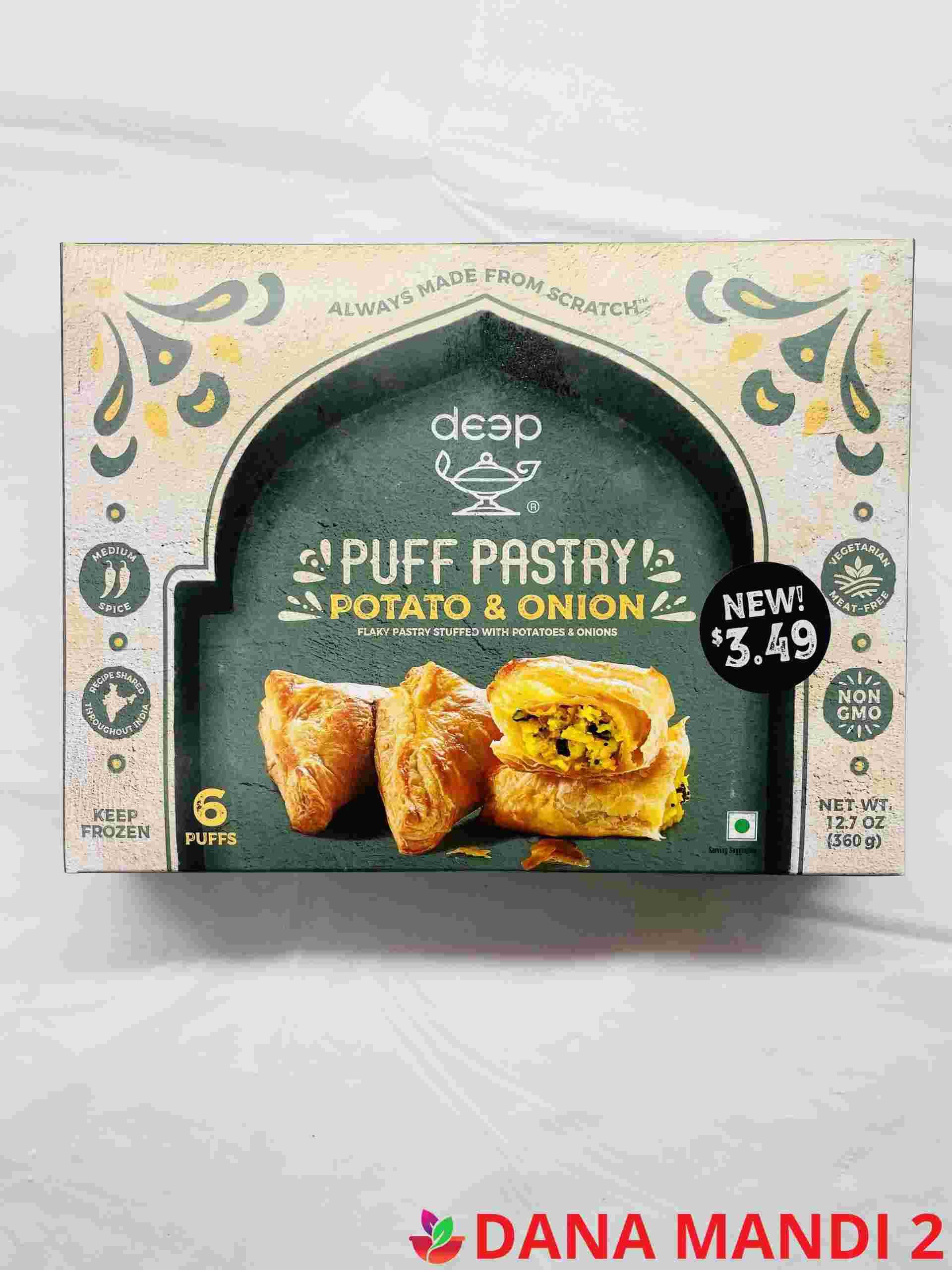 Deep  Puff Pastry Potato & Onion  6 Puffs