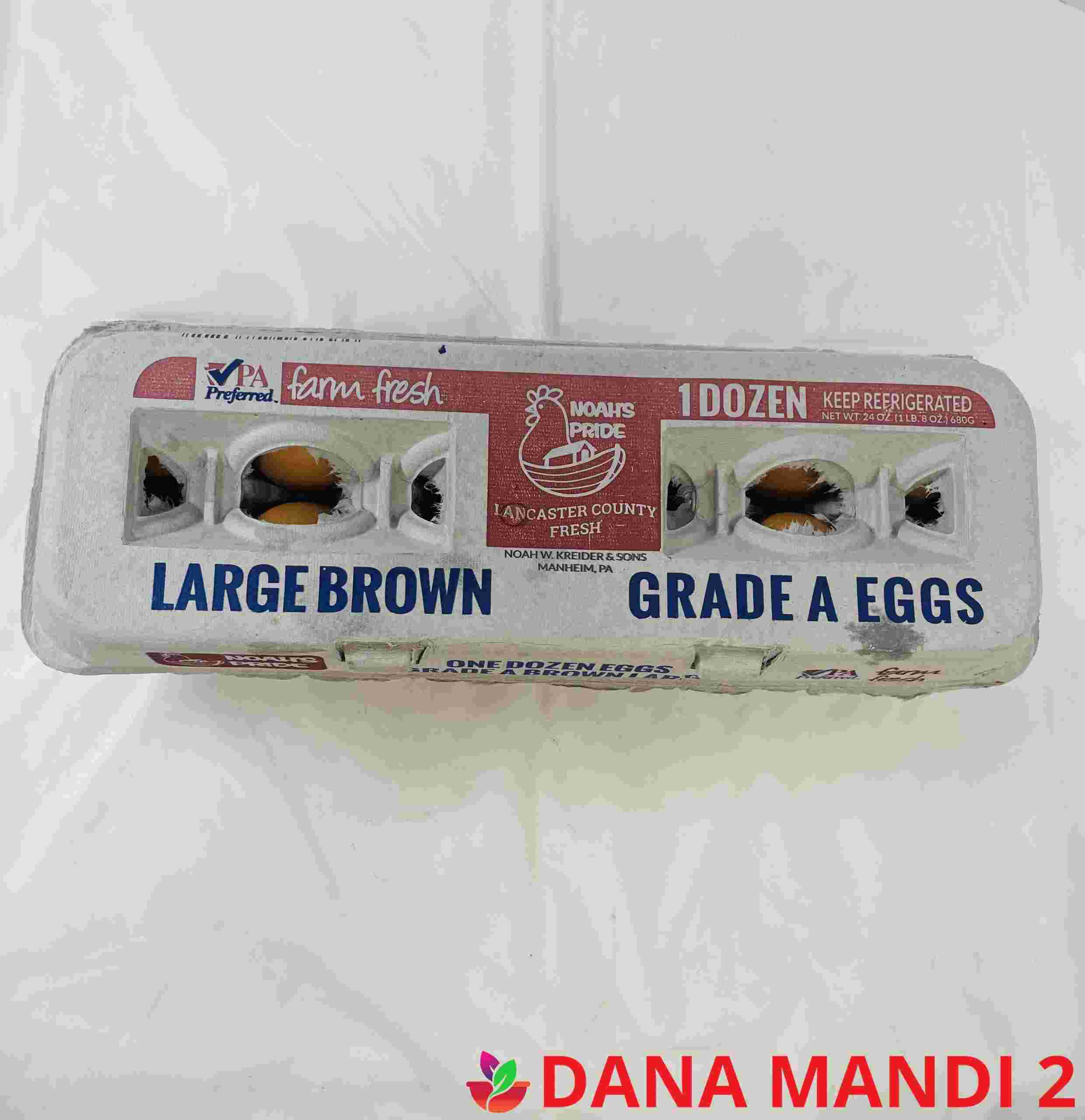Large Brown Eggs  (1 Dozen )