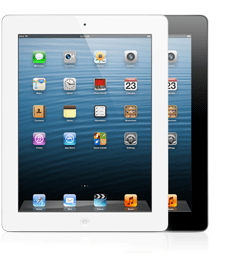 iPads - white and black