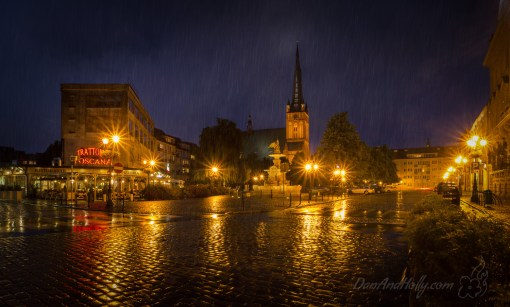 Szczecin in the Rain