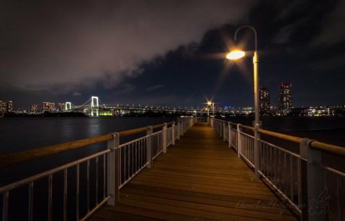 Odaiba Kaihin-Koen Park at Night