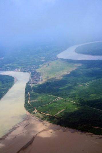 sedimen pasir di sungai Batanghari