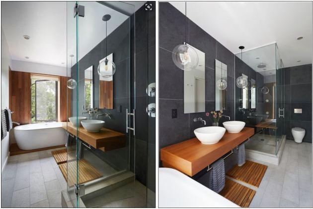 Bathoom inspiration, bathroom ideas, modern bathroom, townhome bathroom
