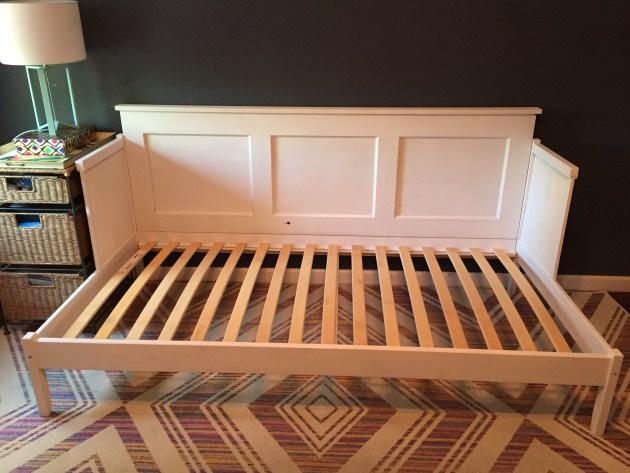 DIY door daybed, IKEA hack, daybed DIY, upcycle, rustic, houston interior ideas, dana morris, david morris