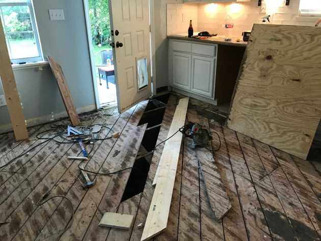 wood kitchen floor, tile diy