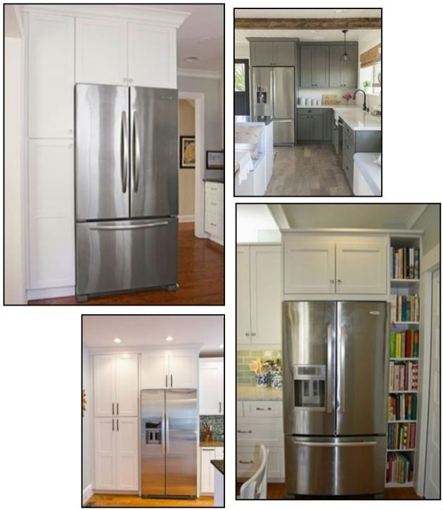 Fridge surround, DIY refrigeration cabinet, frame your fridge, dana plus david