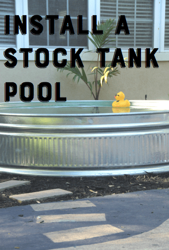 DIY stock tank pool, stock tank pool, DIY pool