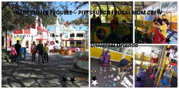 universal, orlando, pittsburgh frugal mom, curious george, dana vento, kissimmee, vacation, kids, balls, foam, blasters,