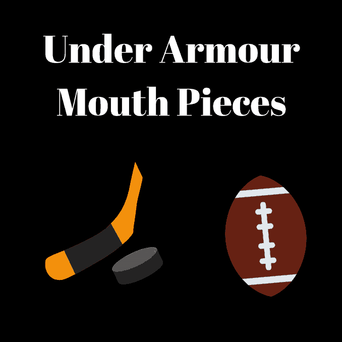 Under Armour Mouth Pieces, hockey, soccer, sports, lacrosse, workouts, wrestling, active sports, guard the teeth, guard the mouth