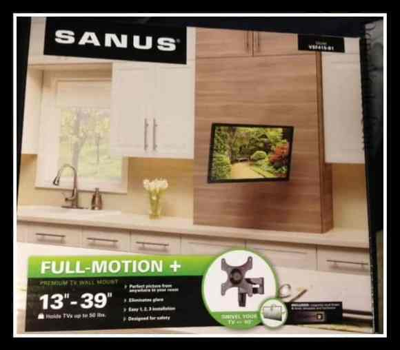SANUS, television mount, television, holidays, mounting television, dana vento