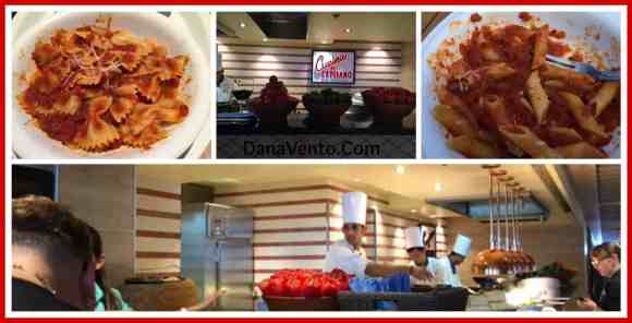 Cucina Del Capitano, Carnival Sunshine, Cruising, Food, Foodie alert, secret of the sunshine, pasta, lunch, dining, food on ship, restaurant, dana vento, lido marketplace