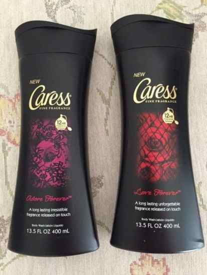 Caress, Forever Collection Body Washes, beauty, bath, shower, woman, fragrance, body washes, living rose, honey, vanilla, floriental sweetness, dark lush berries, dana vento