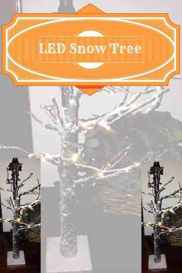 LED Snow Tree, Holidays, decor, lighting, room ambiance, dana vento