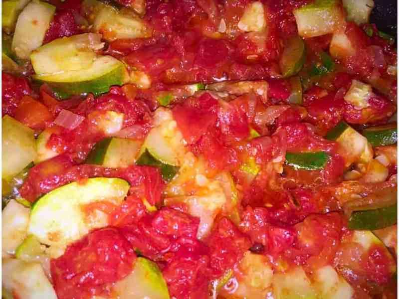 Zucchini and Organic Tomato Caponata