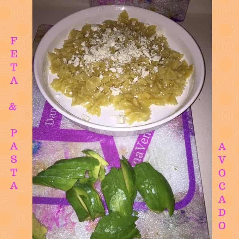 avocado and cherry tomato with feta pasta, veggies, vegetables, grape tomatoes, pasta, recipe, recipes, food, food blogger, diy, cooking, easy to make, fast to make veggies, vegetables, fast, pepper, dinner, lunch, snack, parties, football, ripe, ready, kitchen, cooking, whats for dinner, dana vento food blogger,