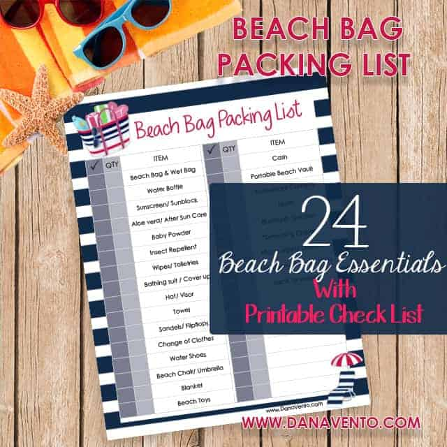 24 Beach Bag Essentials With Printable List