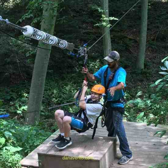 zipline, ziplining, zip line, zip lining, ohio, ohiofindithere, hocking hills ohio, adventure vacation, adventures, family adventure, outdoor activity, outdoor adventures, playing, hanging, forest, gorge, take off, landing, guides, soaring cliffs, fun, staff, bentley, ohio area, best experience, best destination for ziplining, ziplining destination, zip line mania, big foots cave, food, drink, port o podies, office, online scheduling, vacation, traveling, travel bug, travel writer, wanderlust, schedule, how to, guides to help, dana vento travel wrtier