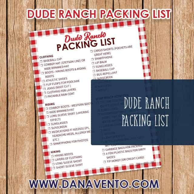 Dude Ranch Packing List