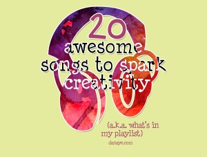 20 awesome songs to spark creativity!
