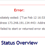 OpenVPN – Process started and then immediately exited. Socket bind failed on local address. Address already in use.